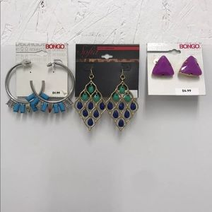 Lot of Fashion Earrings 3 Pair, Lot #2